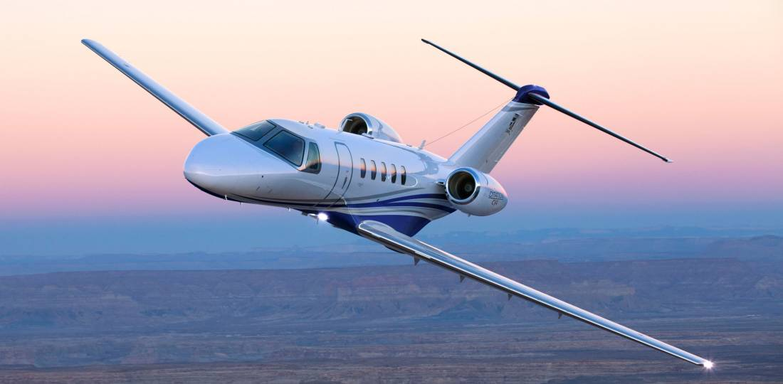 Cessna Citation CJ4 in flight