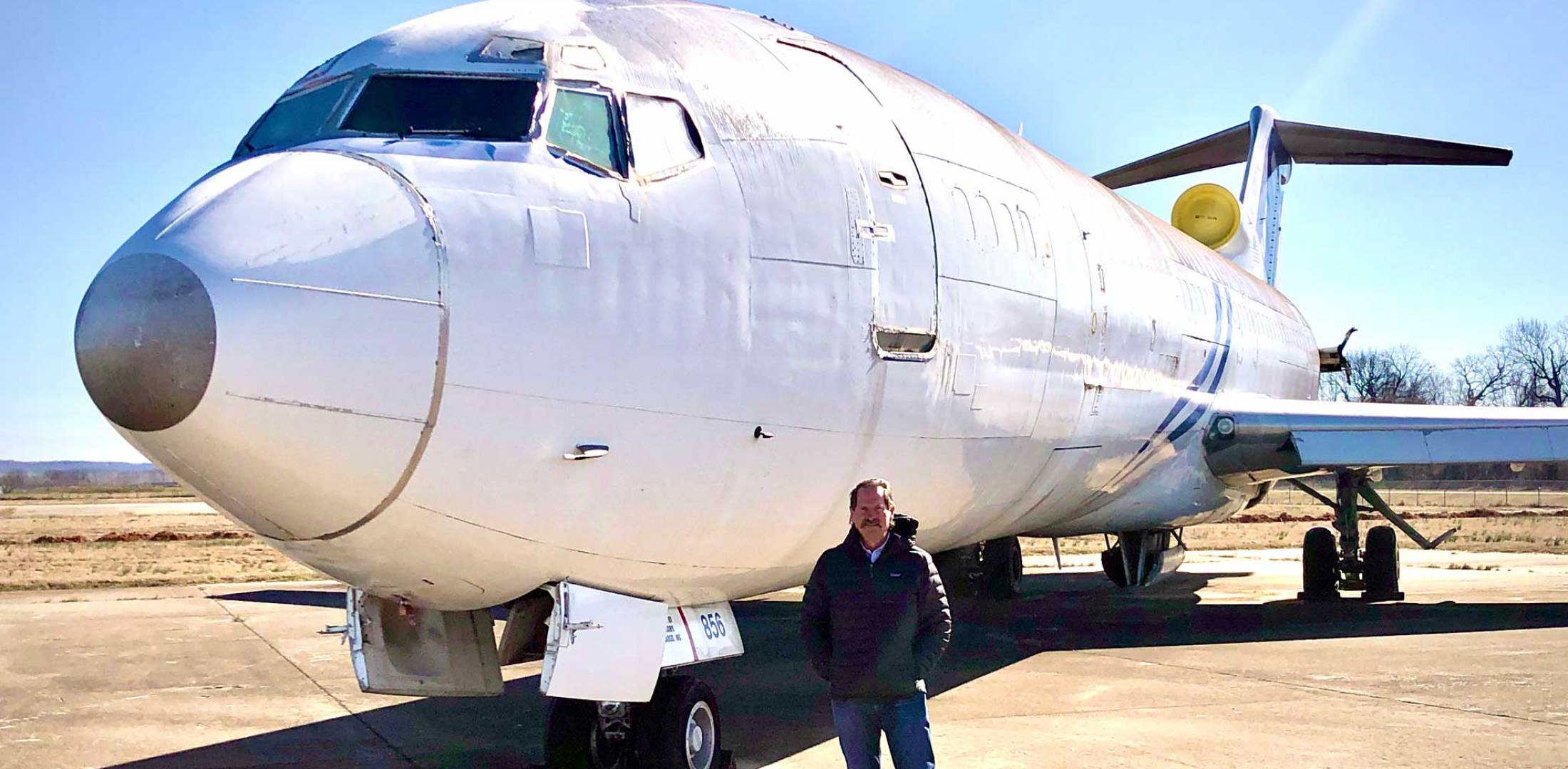 Vince Howie with Boeing 727