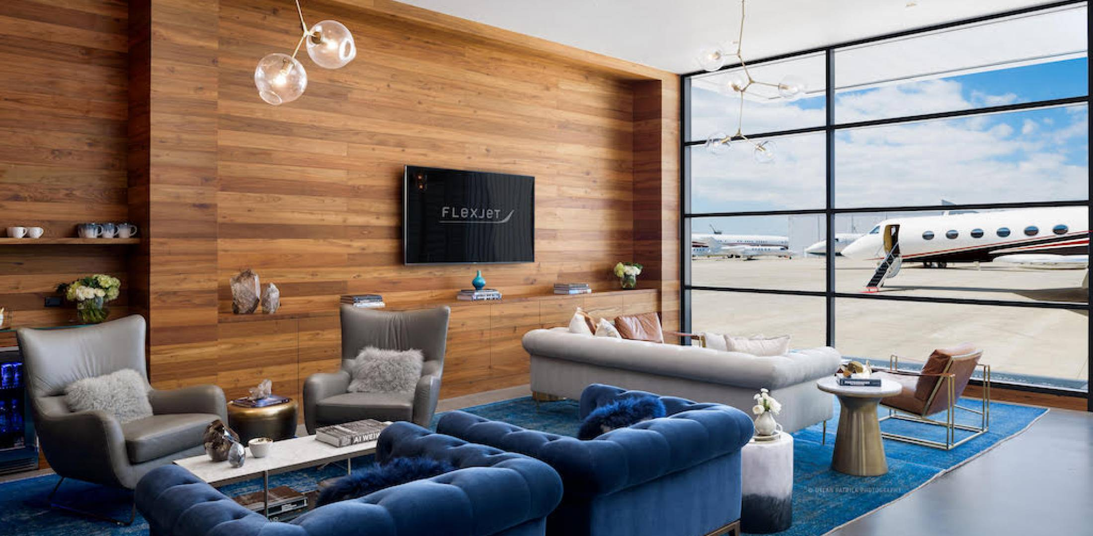 Flexjet lounge in Van Nuys (Photo: Flexjet)