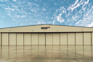 Stevens Aerospace and Defense Systems hangar