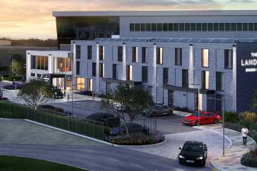 Artist rendering of planned hotel at London Biggin Hill AIrport