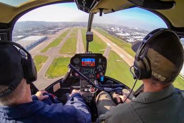 Robinson Helicopter training flight (Photo: Robinson Helicopter)