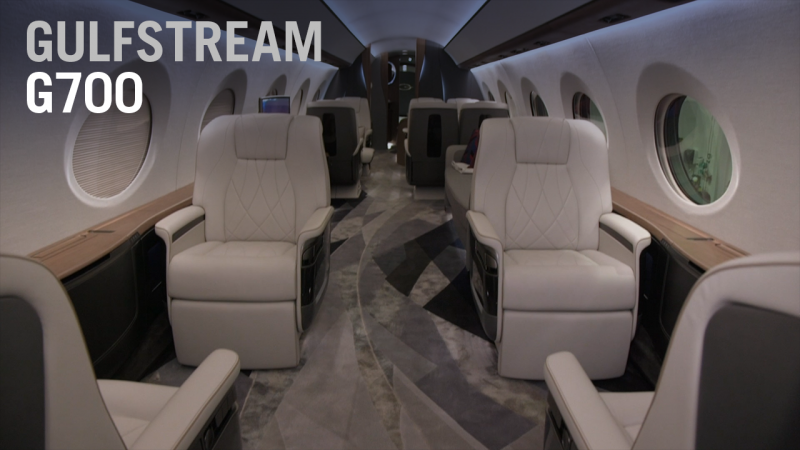 Take a Full Tour Throughout the Cabin of Gulfstream's new G700 Aircraft