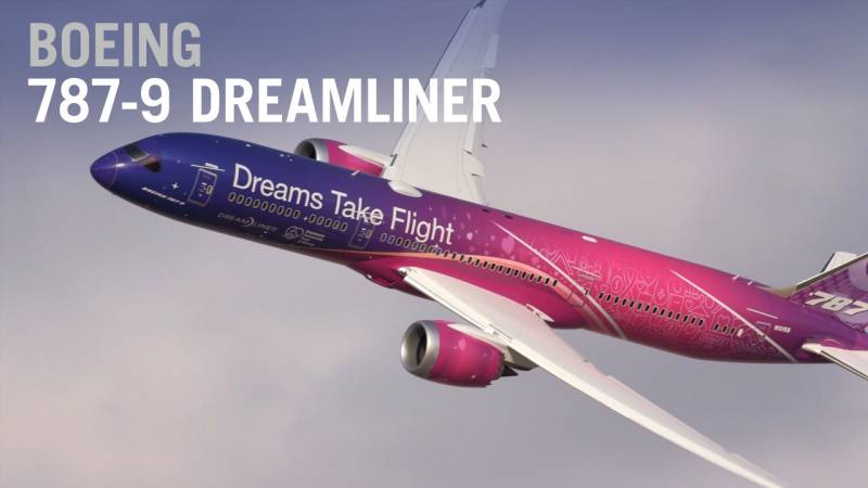 Boeing's 787-9 Dreamliner Flies at the Dubai Airshow - AIN