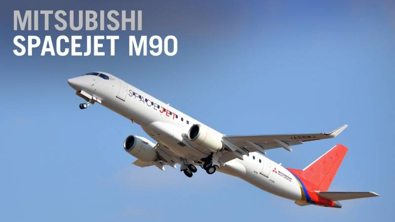 Mitsubishi Stops Work on Its Long-Delayed SpaceJet M90 Airliner